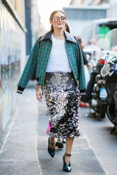 Dressed-down sequins