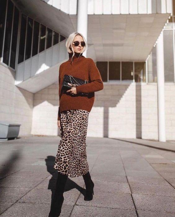 Leopard Midi Skirt Style