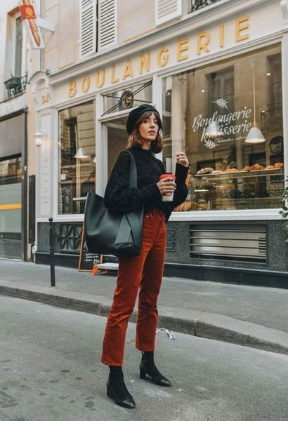 Parisian winter outfit