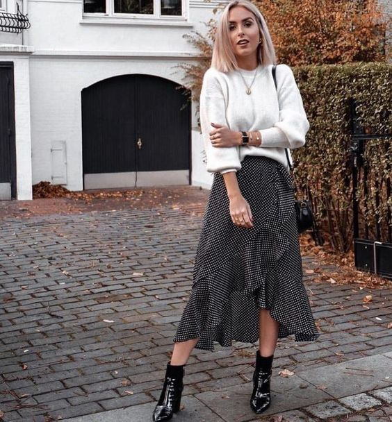 Ruffle Skirt For winter