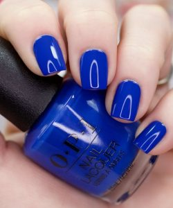 6 Spring Nail Color Ideas You Should Try Now Classic blue