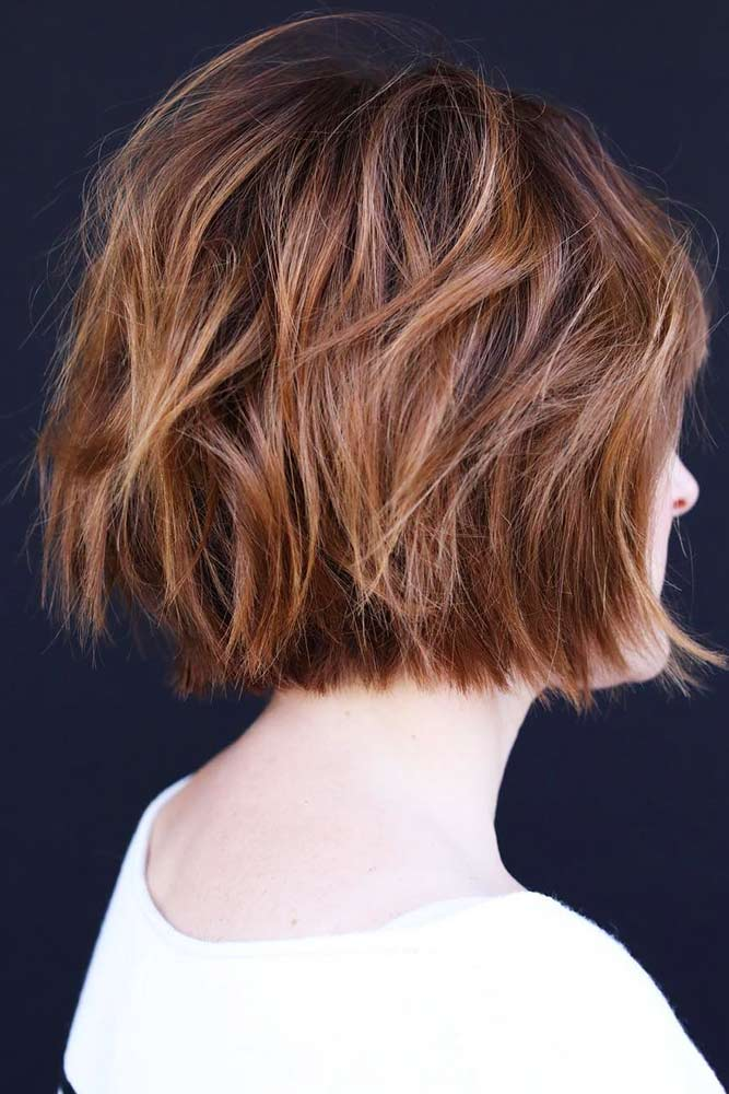 Short Shaggy Bob For Thin Locks