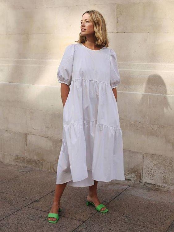 white dress trend