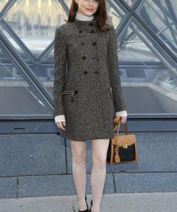 Emma Stone Tweed Coat
