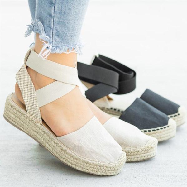Plain Peep Toe Casual Travel Wedge Sandals $42.25