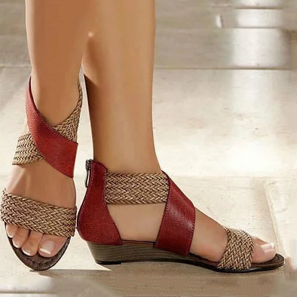 Women's Casual Colorblock Woven Sandals $45.54