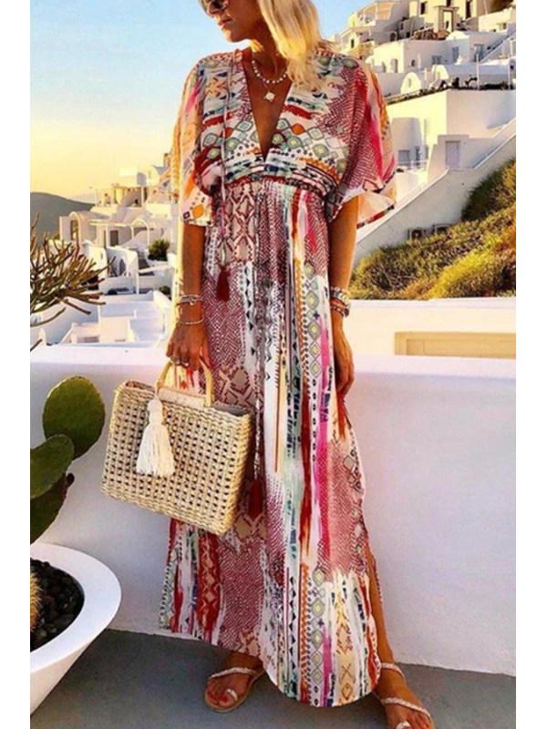 2020 Summer Boho Maxi Dress