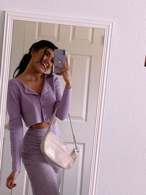 2020 Trend Lilac Outfit Ideas That Fashion Girl Loves Nowadays
