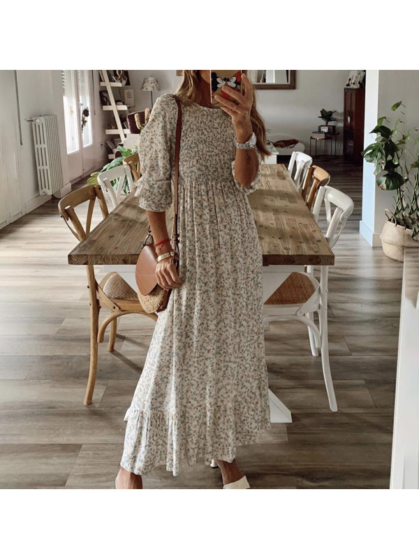Fashion Print Chiffon Dress