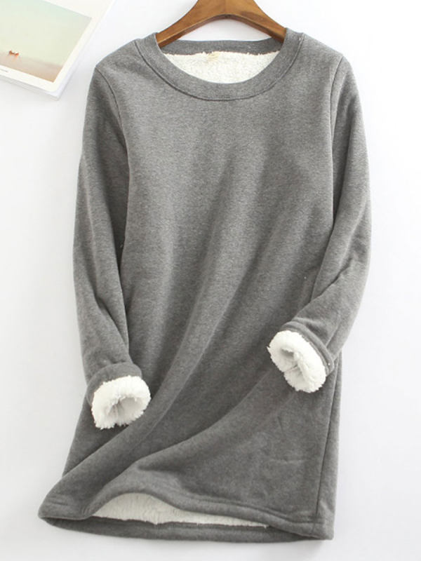 Lamb Wool Casual Long-sleeved T-shirt