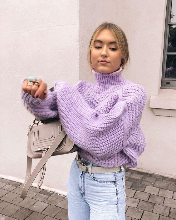 POPPY KNIT SWEATER LILAC