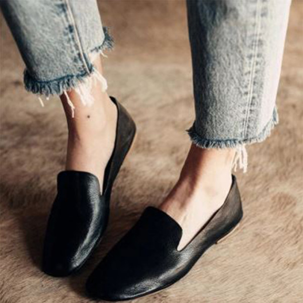 Solid Color Women Simple Comfortable Flats