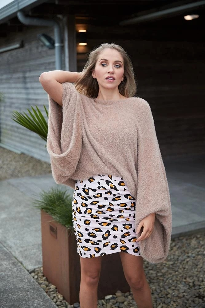 CHARLO COLETTE MEOW SKIRT LONG