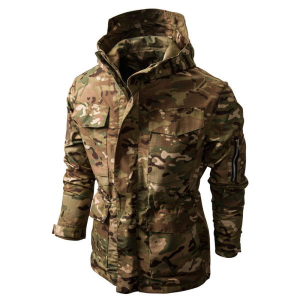 Mens hooded multifunctional jacket
