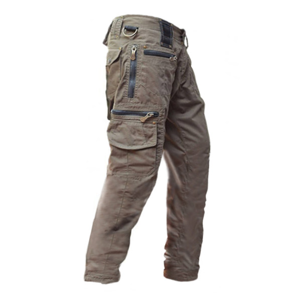 Mens outdoor zipper sports trousers