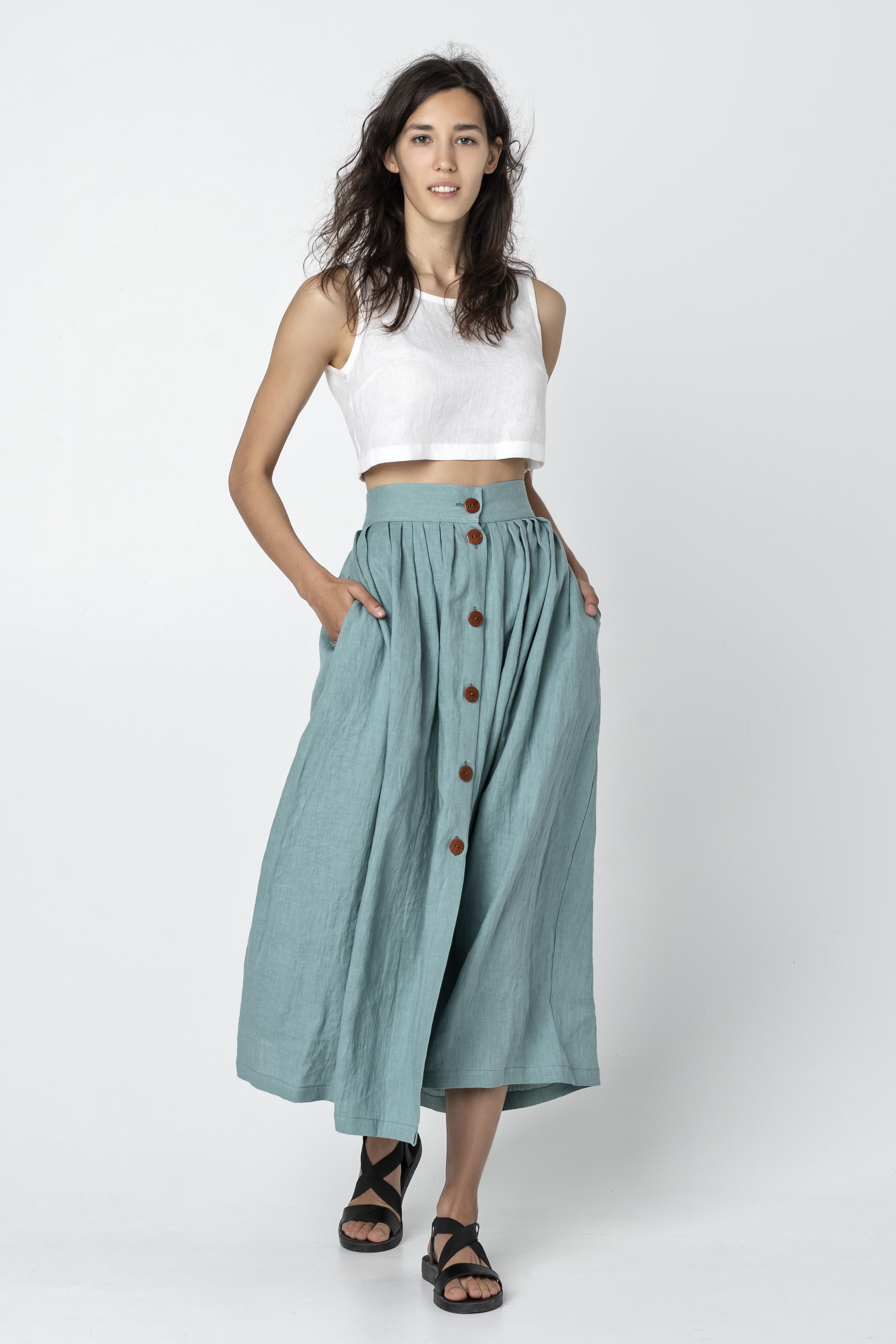 LINDEN | Linen A-Line Skirt