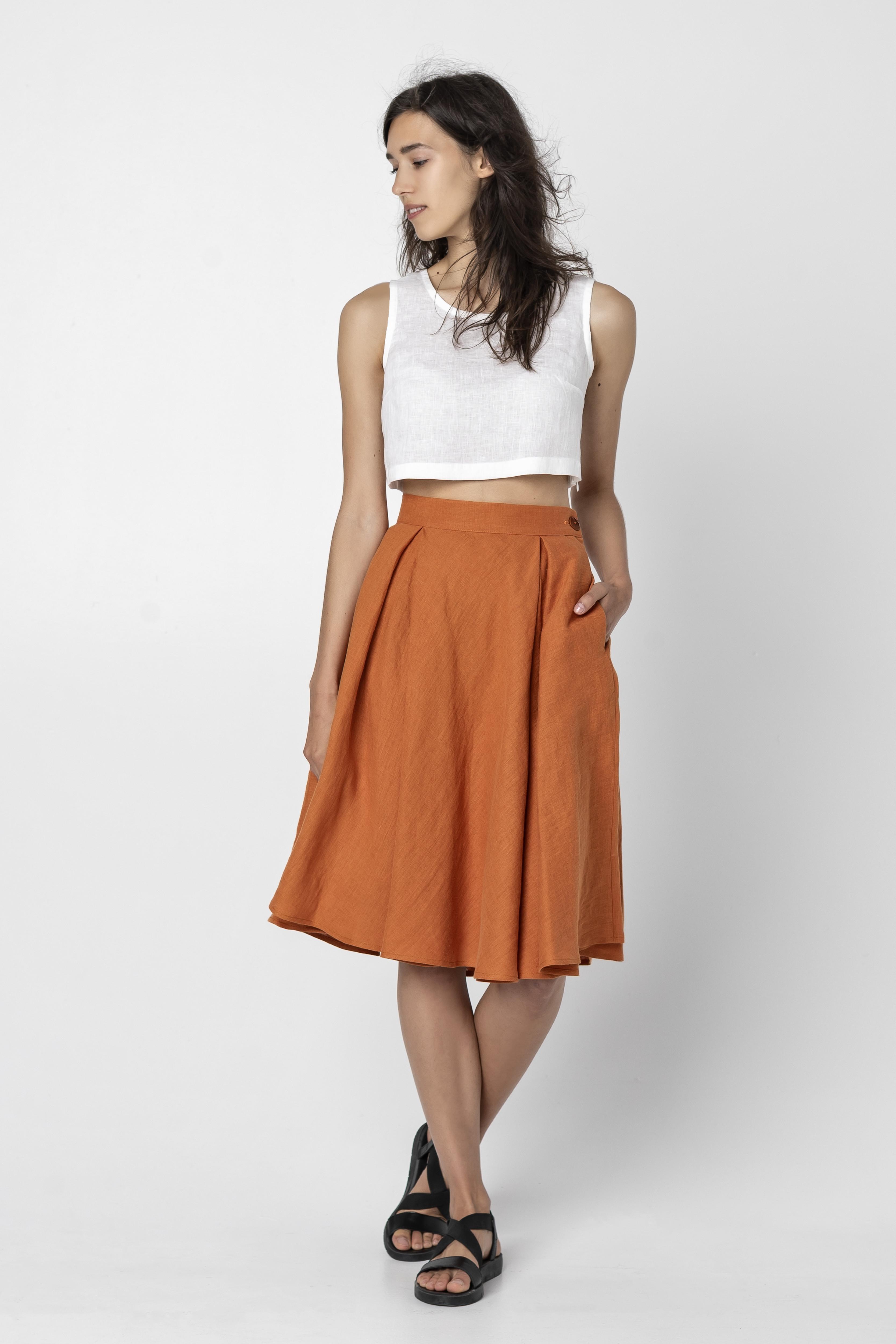 ARI | Long Linen Skirt