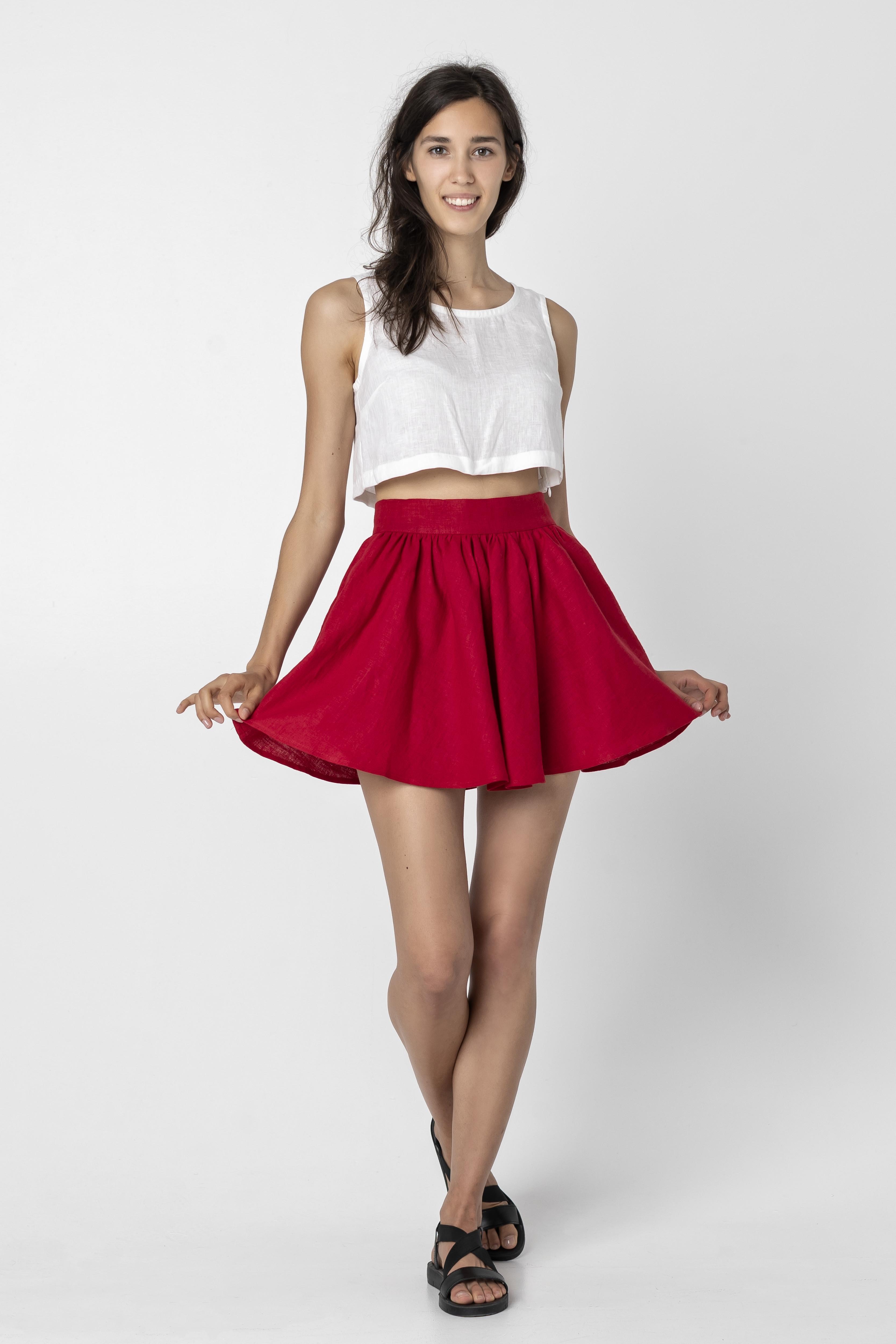 EVA | Short Linen Skirt
