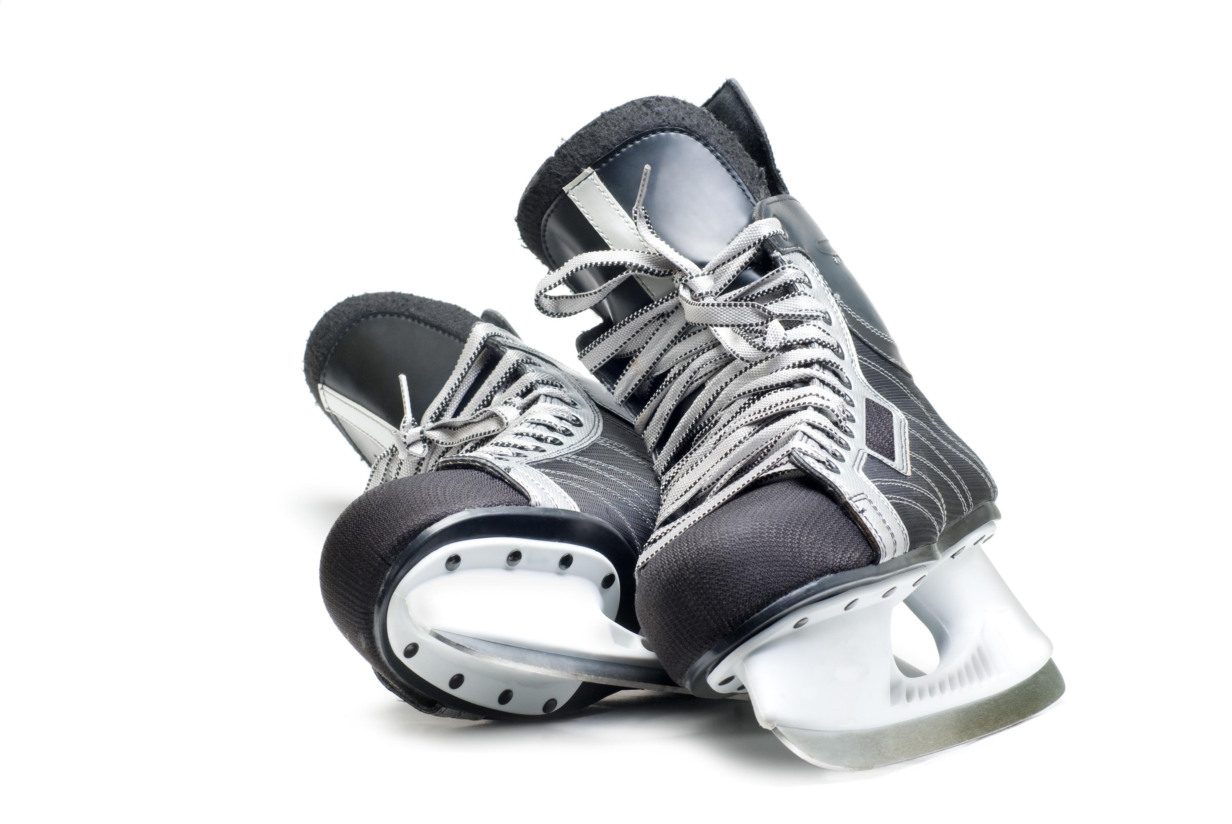 Man's hockey skates.