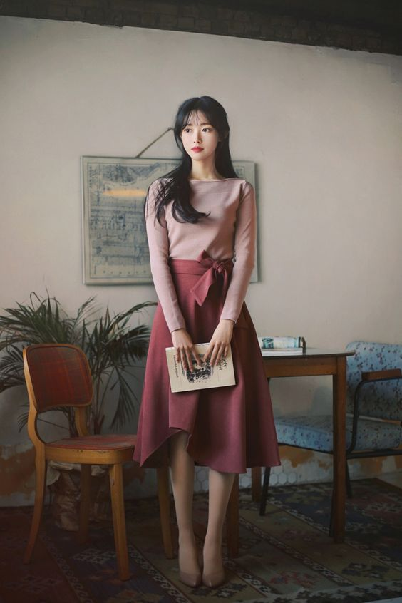 2021 Trend Korean Spring Dresses Style Ideas