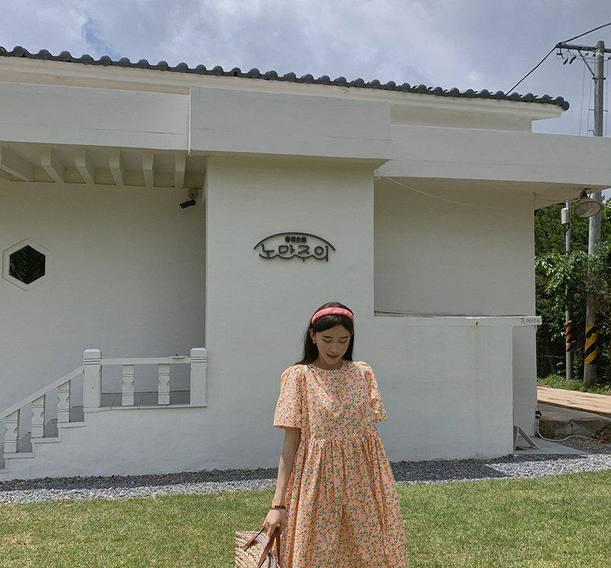 YANSAE - Short-Sleeve Floral Print Dress