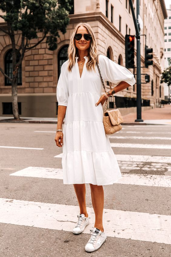 The Best Summer Combo: Dressed Up With Sneakers