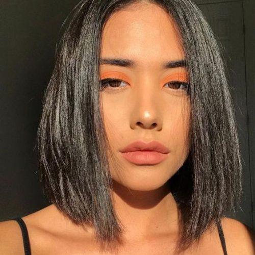 Summer Makeup Trend: The Shiny Orange Looks
